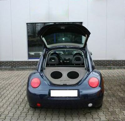 VW New Beetle Audio Box / Kofferraumausbau / Soundbox / Soundboard
