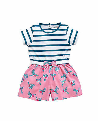 Ladybird Toddler Girls Stripe And Bird Playsuit in Multi Size 6-7 Years