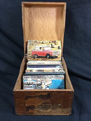 Ford Dealership Wood Box Opp Alabama w/355 Car Postcards Falcon Galaxie 500 RPPC