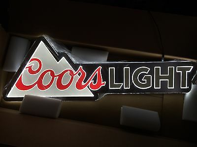 "Coors Light Beer Equity Led Light Bar Sign Man Cave Pub 40"" X 13.5"" New!!"