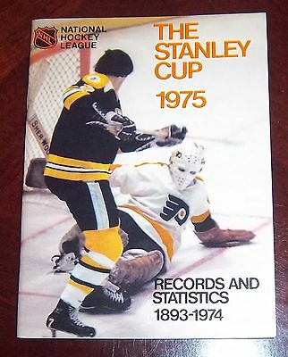 NHL official guide the Stanley Cup records 1975 Phil Esposito / Bernie Parent