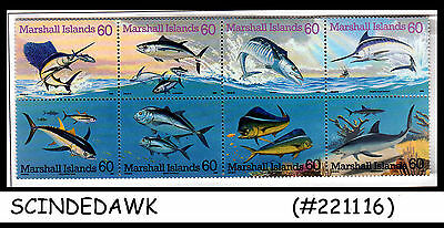 MARSHALL ISLANDS - 1995 GAME FISH of the PACIFIC - SE-TENANT 8V MNH