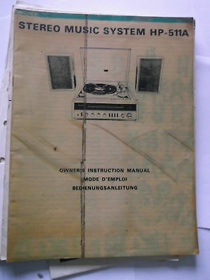stereo music system HP-511A OWNERS INSTRUCTION MANUAL