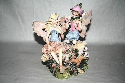 Wholesale job lot shop clearance Large fairy duo Pink flowers x10