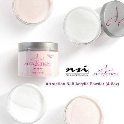 NSI Attraction Nail Acrylic Powder 4.6oz / 130g *Choose any 1*