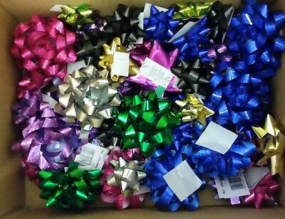 Self Adhesive Gift Bows - Red - Gold - Silver - Green - Presents - Christmas