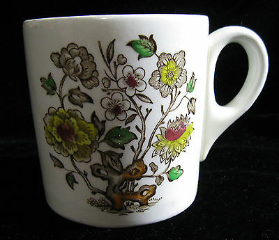 Vintage Woods & Sons England Dorset Brown Multi Porcelain COFFEE MUG HTF