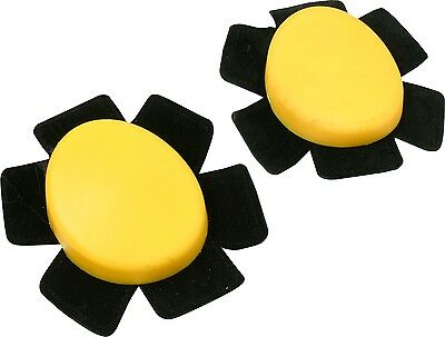 Motopart Universal Knee Slider Set Yellow Motorcycle Race Sliders