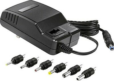 Universal AC/DC Power Adapter Output 3V 4.5V 6V 7.5V 9V 12V 600mA 6 Plugs