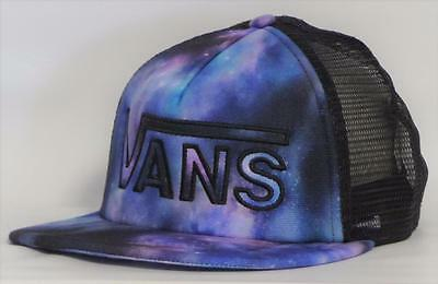 d87f533421d Vans Off The Wall Drop V Womens Cosmic Galaxy Snapback Trucker Hat NEW NWT