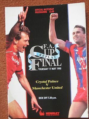 1990 FAC FINAL REPLAY CRYSTAL PALACE v MANCHESTER UNITED