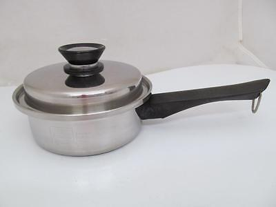 VINTAGE 1 QT QUEEN AMWAY SAUCE PAN POT w/ LID FITS SHINY CLEAN COOKWARE