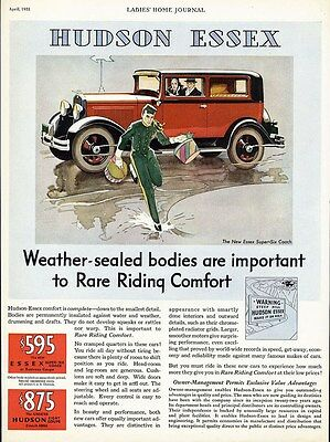 HUDSON ESSEX Car Auto Ad 1931 Super Six Coach in Red