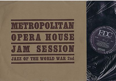LP - METROPOLITAN OPERA HOUSE JAM SESSION jazz of the world war 2nd 1944 FDC