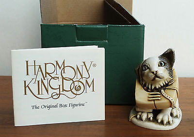 "Rare Harmony Kingdom ""Crooze Cat"" Figurine, in Original Packaging"
