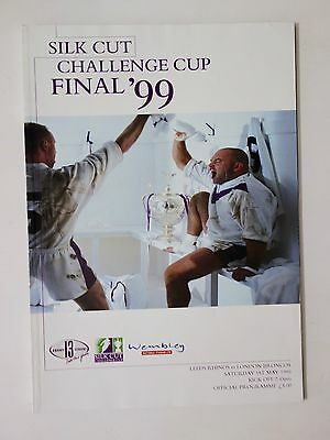 Rugby - Silk Cut Challenge Cup Final programme 1999 - Leeds v London