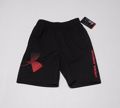 NWT Boys Under Armour Black With Red Logo Shorts sz 4