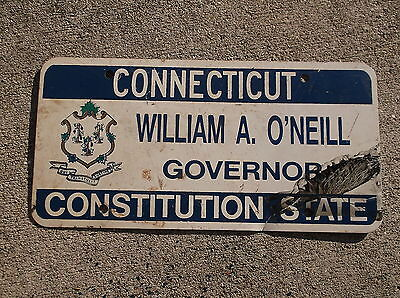 Connecticut William A. O'Neil Governor License Plate