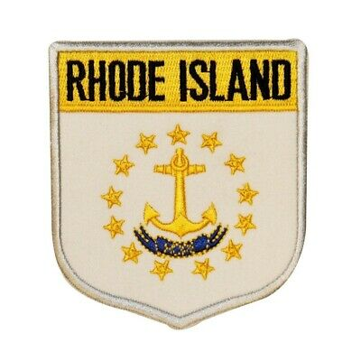 State Flag Shield Rhode Island Patch Badge Travel Embroidered Sew On Applique