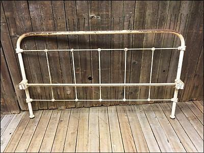 Antique CAST IRON BED HEADBOARD frame footboard FULL architectural gate vintage