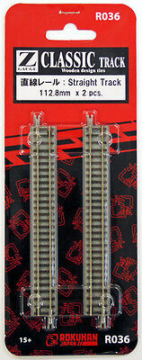 Rokuhan R036 112.8mm Straight Track 2 pcs. (1/220 Z Scale)
