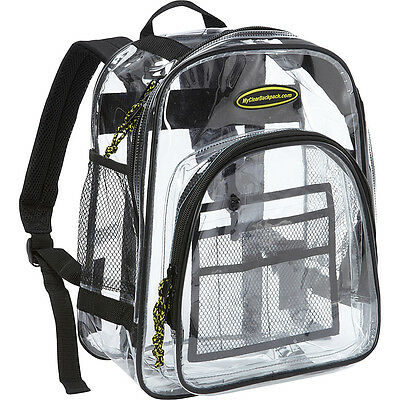 My Clear Backpack Middle Backpack - Clear Everyday Backpack NEW