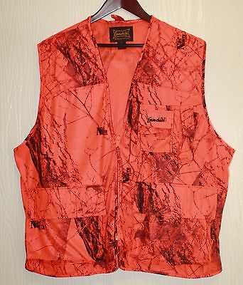 Gamehide Big Game Vest Blaze Orange Camo Size XL