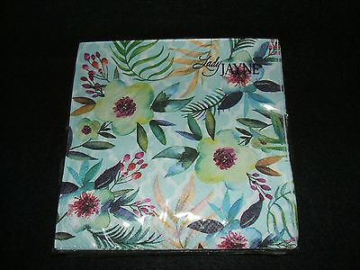Tropical Floral paper beverage napkins USE FOR DECOUPAGE