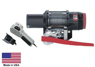 WINCH - Heavy Duty - 12 Volt DC - 1.5 Hp - 4,000 Lb Cap 55 Ft of 7/32 Wire Rope