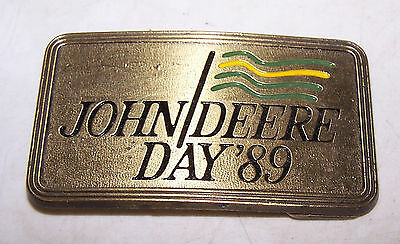 1989 JOHN DEERE Day Belt Buckle Moline Illinois