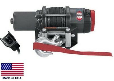"WINCH - Heavy Duty - 12 Volt DC - .9 Hp - 2,500 Lb Cap 50 Ft of 3/16"" Synthetic"