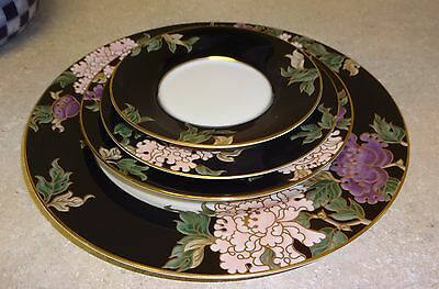 FITZ & FLOYD CLOISONNE PEONY 4 PIECE PLACE SETTING  no cup
