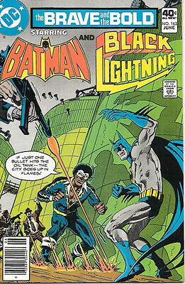 Brave and the Bold Comic Book #163 DC Batman and Black Lightning 1980 NEAR MINT