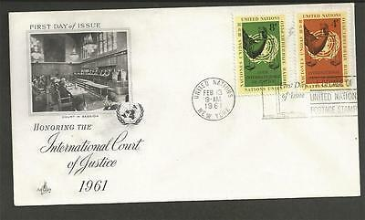 UNITED NATIONS - 1961 International Court of Justice  - F.D. COVER.
