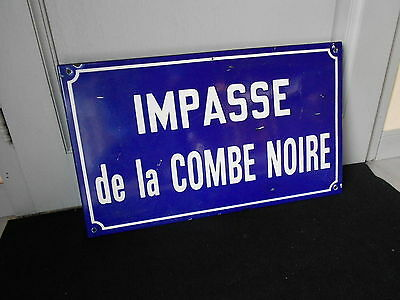 old FRENCH BLUE Enamelware STREET SIGN Plaque