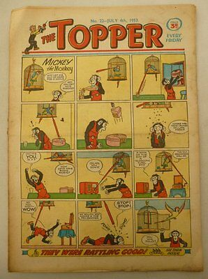 Topper comic #22 - 4 Jul 1953 Good+ (phil-comics)