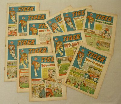 Tiger comic 1962 x 11 Roy of the Rovers Most VG and FN (phil-comics)