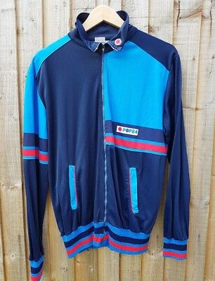 80S Casuals Vintage Og Pop 84 Track Top Rare Colourway Borg Bj Medium