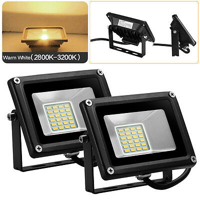 2x 20W LED Warm White Flood Light DC 12V IP65 SMD Outdoor Security Spot Lamp