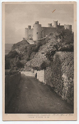 (P906) Harlech Castle. Early 1900s H.M. Office of Works Postcard