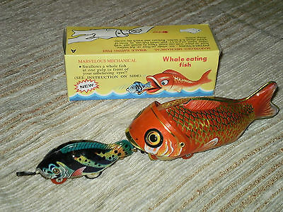 144x BLECHSPIELZEUG RED CHINA MS229 WAL FRISST FISCH WHALE EATING FISH in KARTON