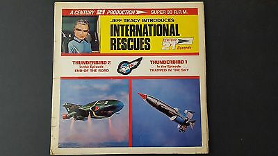 Thunderbirds/Jeff Tracy International Rescues/1966 Century 21 LP/Gerry Anderson