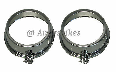 Kawasaki Z650 Z750 Z900 Z1 Z1000 Chrome Pair Speedo & Tacho Clock Covers Rims