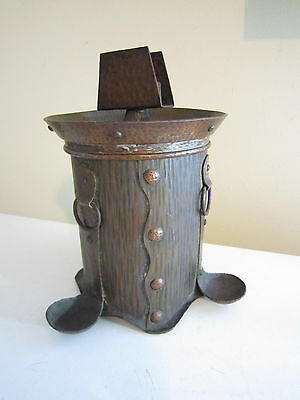 Antique Hand Hammered Copper Humidor Stickley Era Arts And Crafts Mission