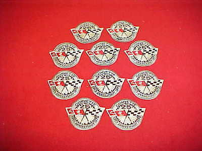 1953 1978 Corvette Vette 25Th 25 Th Silver Anniversary Badge Lot 10 Ten Patch 78