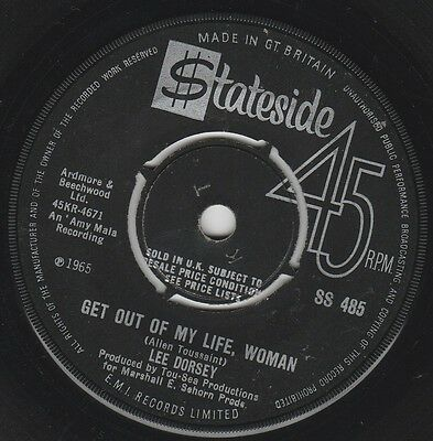 Northern LEE DORSEY Get Out Of My Life, Woman STATESIDE 1966