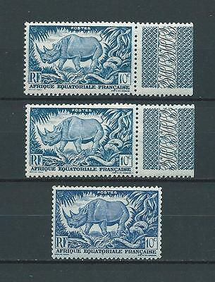 AEF - 1947 YT 208 3x - TIMBRES NEUFS** MNH LUXE