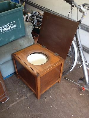 vintage oak wooden commode  box commode