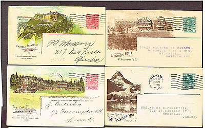 Canada Cpr Railway Cards Stationery Advertising X4  (June2