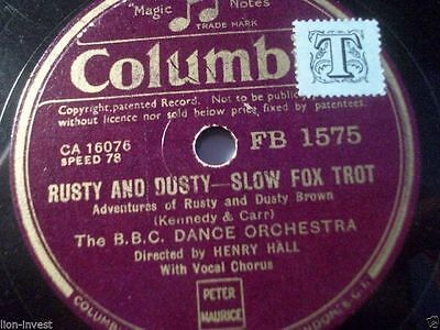 """B.B.C. DANCE ORCHESTRA & HENRY HALL """"The Fairy On The Christmas Tree"""" Columbia"""